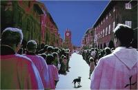 """Menichetti Oreste """" La processione """" (1979)"""