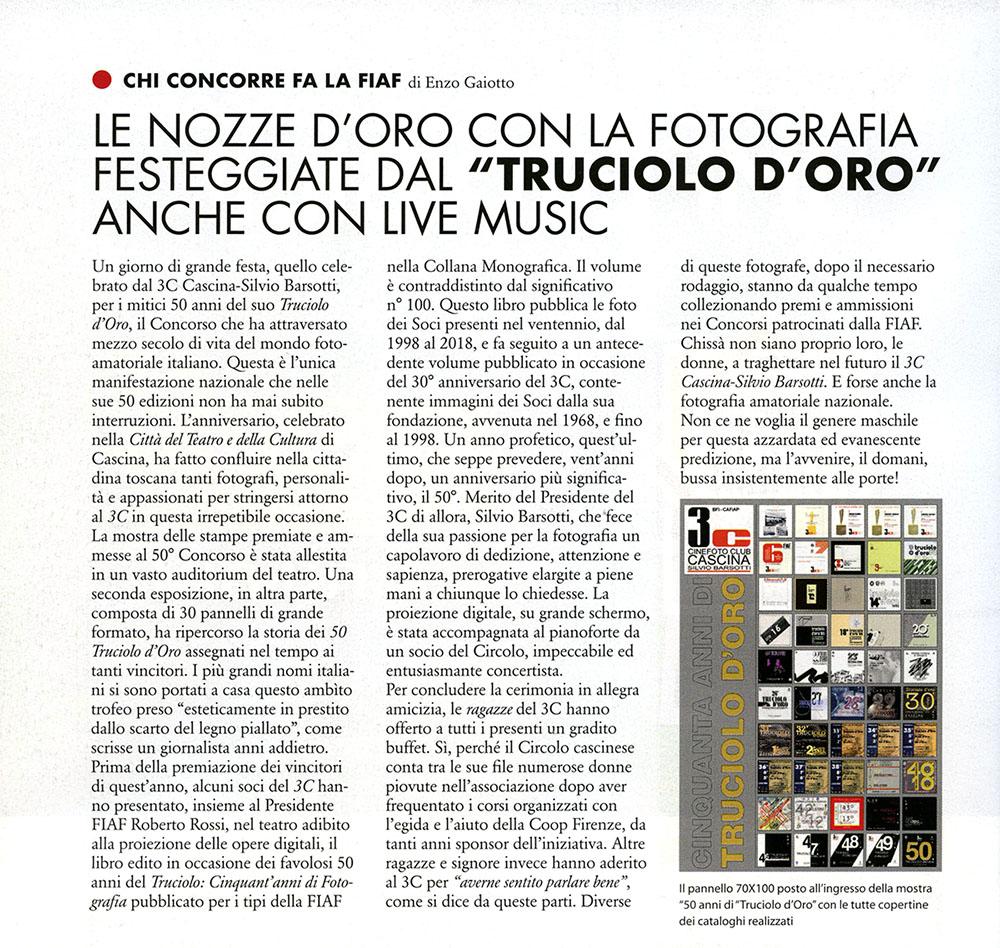 Da FotoIT 11/2018. Nozze d'Oro con la fotografia.