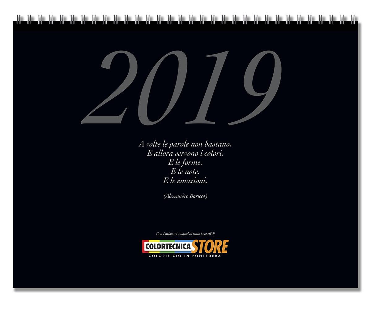 Colortecnica Store, Calendario 2019. Foto del 3C Cascina
