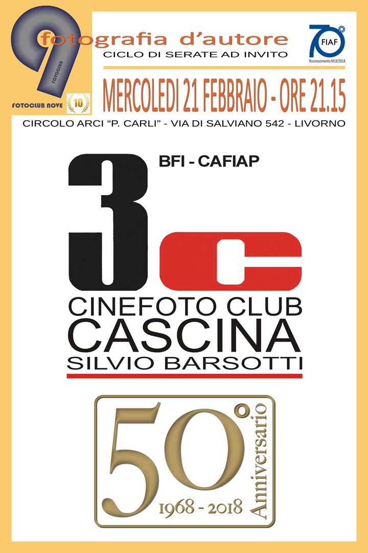 """21 Febbraio – Serata 3C Cascina al """"Fotoclub 9"""" Livorno"""